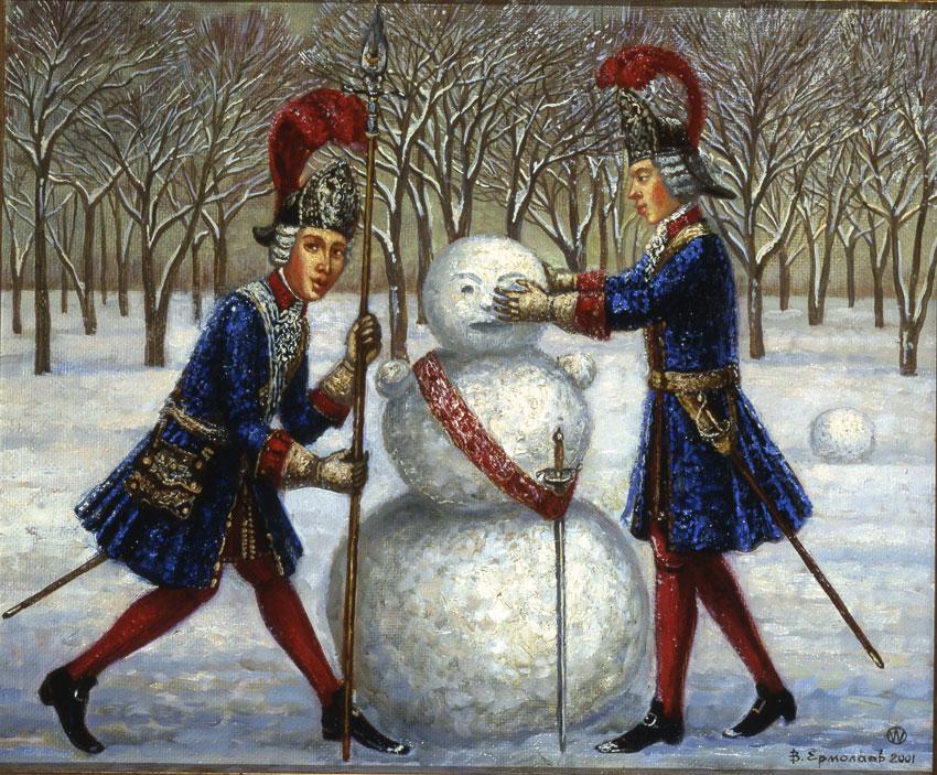 снеговик, зимняя забава, оберег,